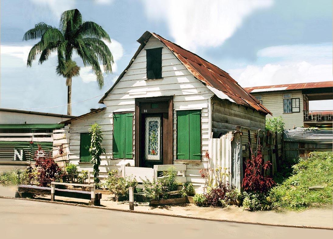 Huisje Lademanstraat Suriname